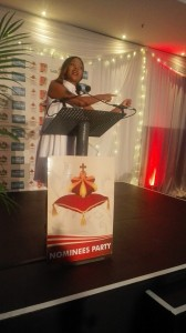Zanele at the nomanee party