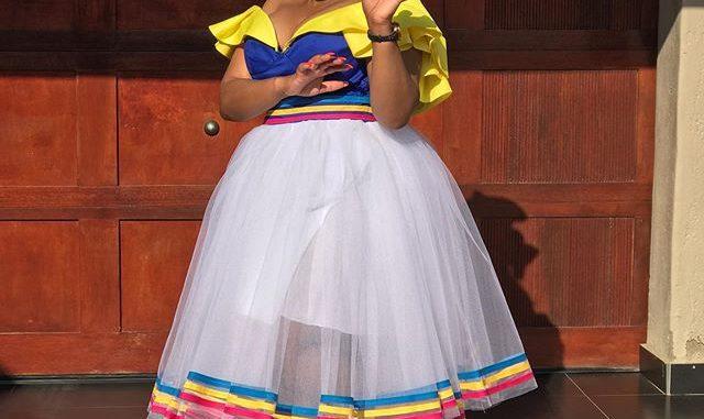 Winnie Mashaba in traditional swag