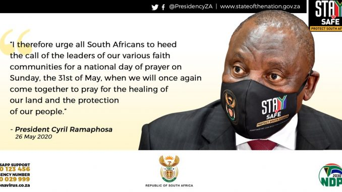 Ramaphosa Calls National Day of Prayer 2020