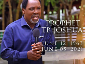 SCAON releases statement on TB Joshua Death